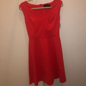 NWOT Cynthia Rowell coral dress